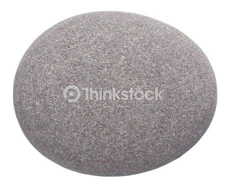 rounded pebble isolated on white background : Stock Photo