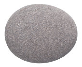 rounded pebble isolated on white background