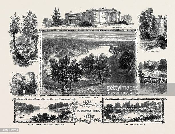 The Mansion South West Front The Waterfall The Upperlake Waterloo Lake The Cascade The Castle View From The Lodge Entrance The Canal Garden