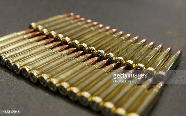 Rounds for an AR15 233 or 556 caliber are shown at Barnes Bullets on March 5 2015 in Mona Utah The ATF is considering a controversial ban on some...