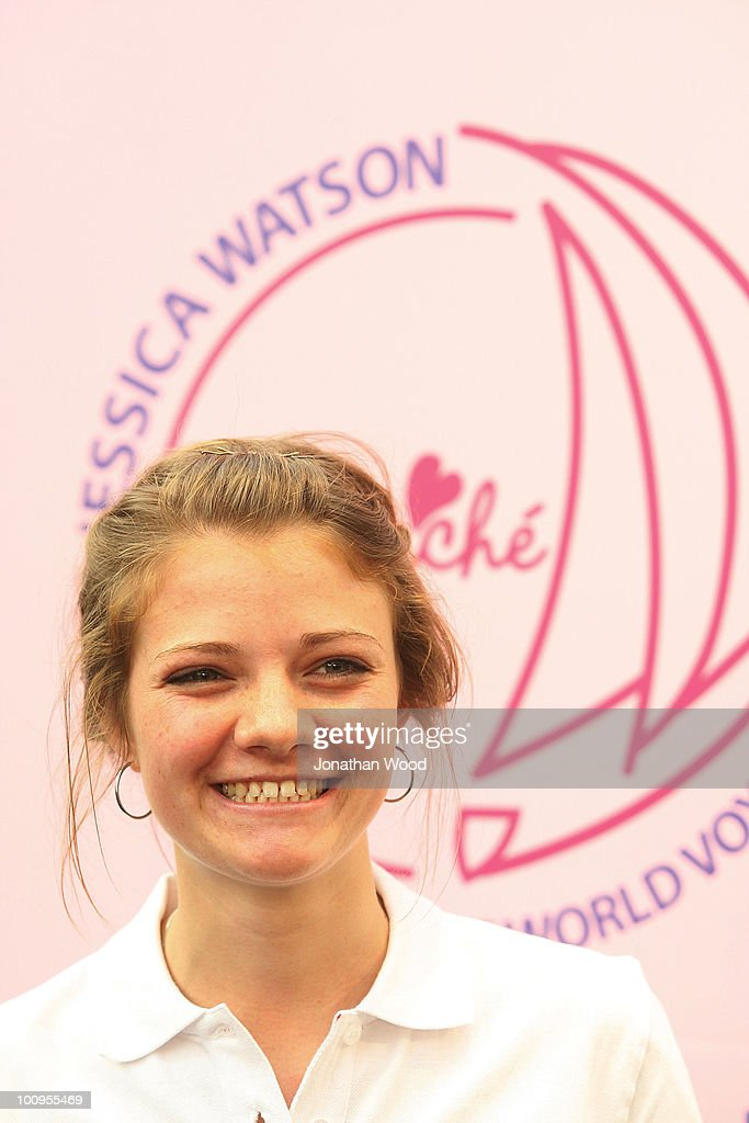 Round-the-world teen sailor Jessica Watson is interviewd by the media during a welcome home event at Queen Street Mall on May 26, 2010 in Brisbane, Australia. Watson, who turned 17 last week, returned to Australia to a hero's welcome on May 15 after sailing solo, non-stop and unassisted around the globe, completing the journey in 210 days.