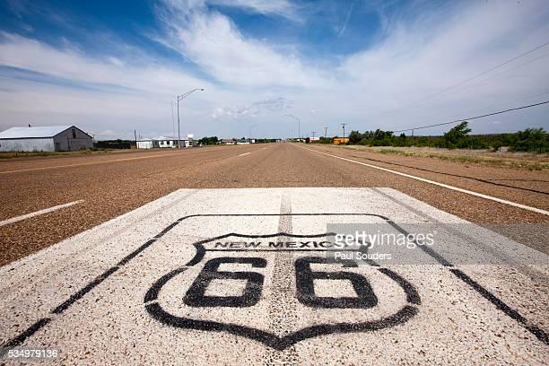 Route 66 at Tucumcari in New Mexico