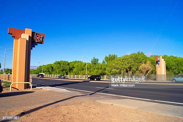 Route 66 bridge.