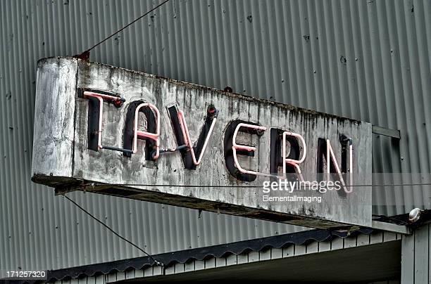 Route 66 Classic Americana Silver Neon Tavern Sign