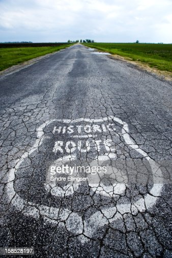 Route 66 marker : Stock Photo