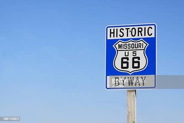 Route 66 サインミズーリ州、アメリカ合衆国ます。