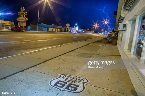 Route 66 Tucumcari, New Mexico at night
