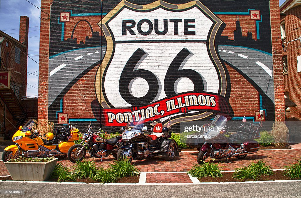 Route 66 wall mural pictures getty images for Route 66 mural