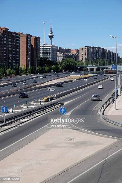 Route M30 in Summer Madrid