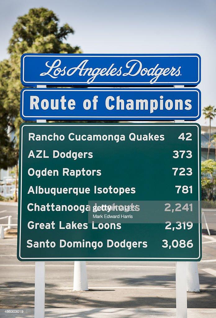 Route of Champions Sign, Dodger Stadium