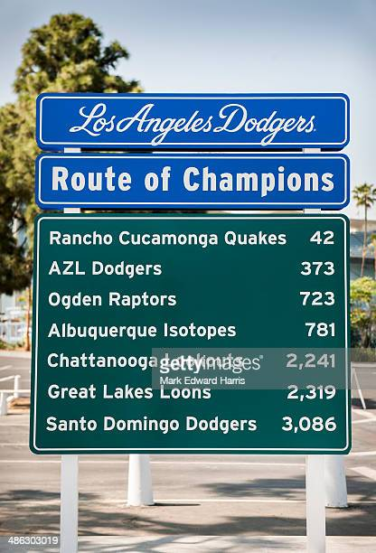 Route of Champions Sign, Dodger Stadium