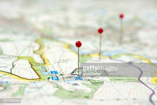 Route Planning using pins on a map to show route