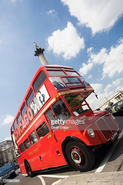 Routemaster bus, Nelsons Column, London, UK