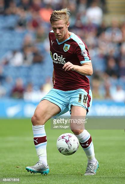 Rouwen Hennings of Burnley during the Sky Bet Championship match between Burnley and Brentford at Turf Moor on August 22 2015 in Burnley England
