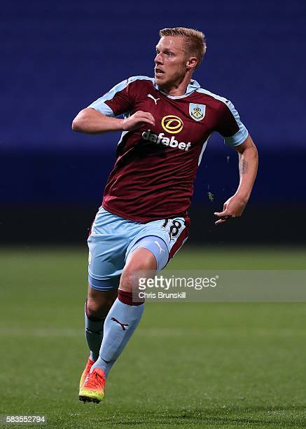 Rouwen Hennings of Burnley in action during the preseason friendly match between Bolton Wanderers and Burnley at the Macron Stadium on July 26 2016...