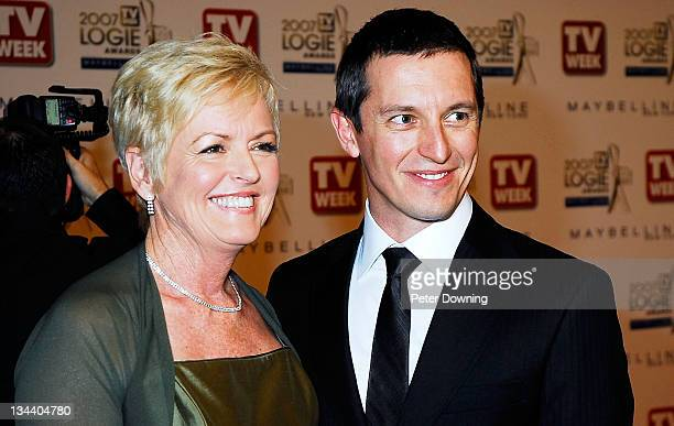 Rove McManus and Coralie McManus during 2007 TV Week Logie Awards Arrivals at Crown Casino in Sydney NSW Australia