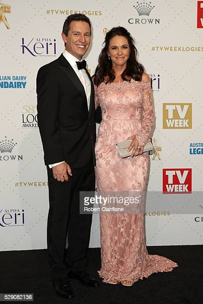 Rove McManus and Tasma Walton arrive at the 58th Annual Logie Awards at Crown Palladium on May 8 2016 in Melbourne Australia