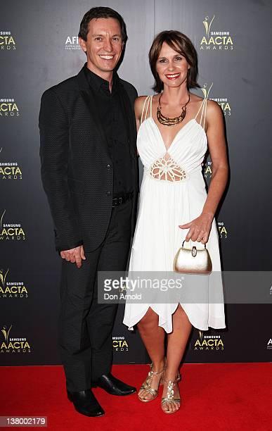 Rove McManus and Tasma Walton arrive for the 2012 AACTA Awards at Sydney Opera House on January 31 2012 in Sydney Australia