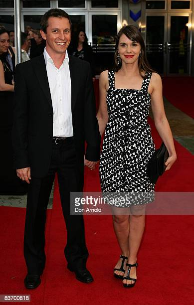 Rove McManus and Tasma Walton arrive for the Australian premiere of 'Quantum of Solace' at the Hoyts Cinema in the Entertainment Quarter on November...