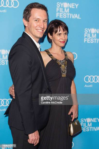Rove McManus and Tasma Walton attend the world premiere of 'Mystery Road' on opening night of the Sydney Film at the State Theatre on June 5 2013 in...