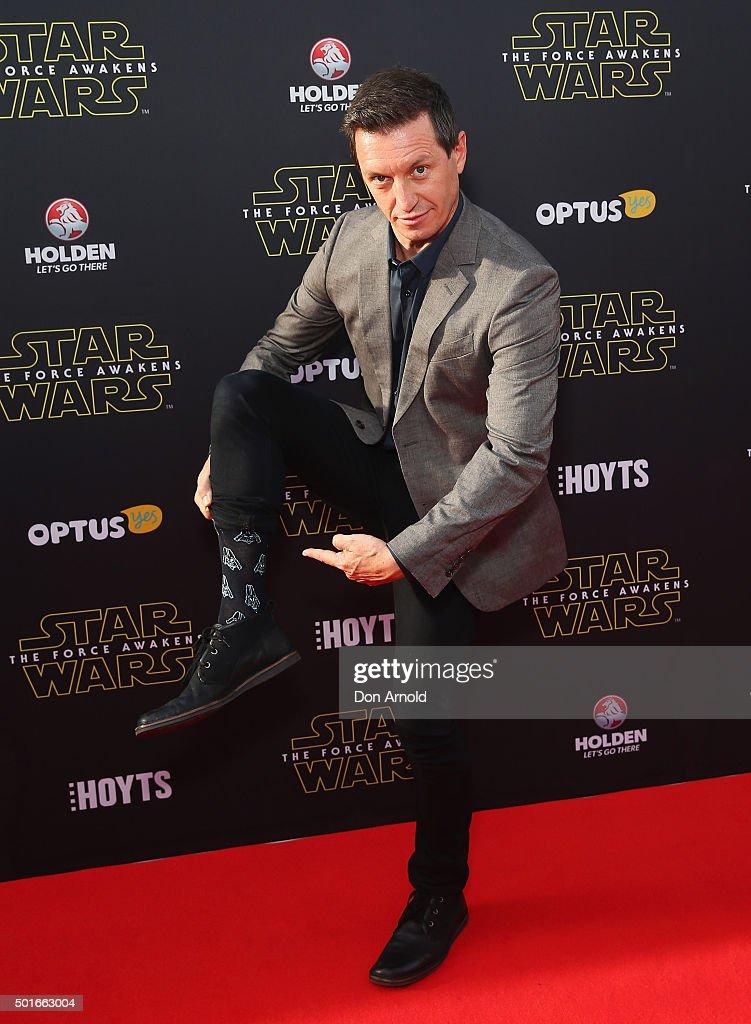 Rove McManus arrives ahead of the 'Star Wars: The Force Awakens' Australian premiere on December 16, 2015 in Sydney, Australia.