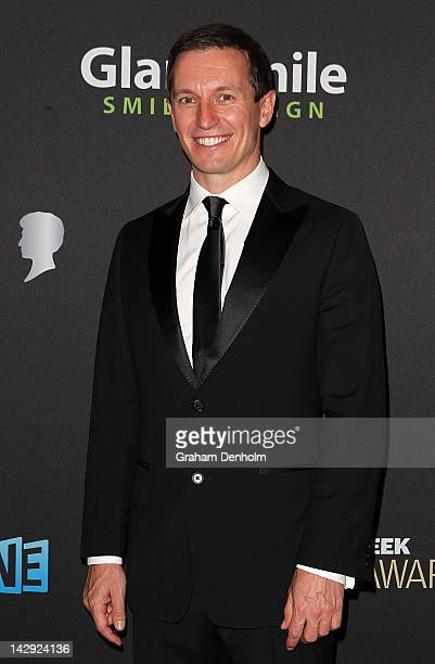Rove McManus arrives at the 2012 Logie Awards at the Crown Palladium on April 15 2012 in Melbourne Australia