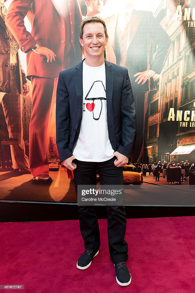 <a gi-track='captionPersonalityLinkClicked' href=/galleries/search?phrase=Rove+McManus&family=editorial&specificpeople=206519 ng-click='$event.stopPropagation()'>Rove McManus</a> arrives at the 'Anchorman 2: The Legend Continues' Australian premiere on November 24, 2013 in Sydney, Australia.