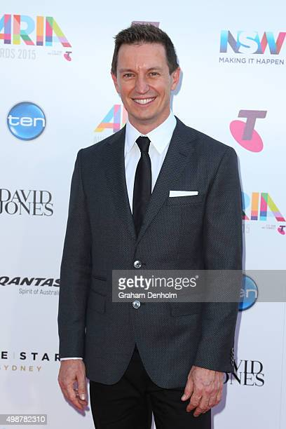 Rove McManus arrives for the 29th Annual ARIA Awards 2015 at The Star on November 26 2015 in Sydney Australia