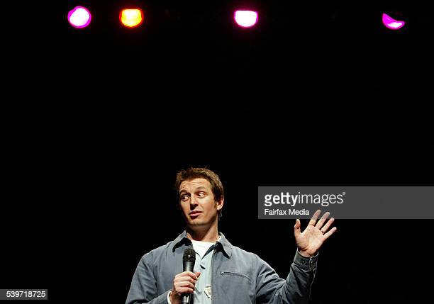 Rove McManus performs his standup comedy show 'Rove Stands Up' at the Enmore Theatre Sydney 7 July 2005 SHD Picture by FIONALEE QUIMBY