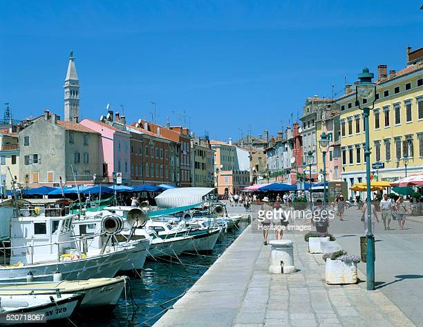 Rovinj Croatia Rovinj is a fishing port and popular tourist resort on the west coast of the Istrian peninsula