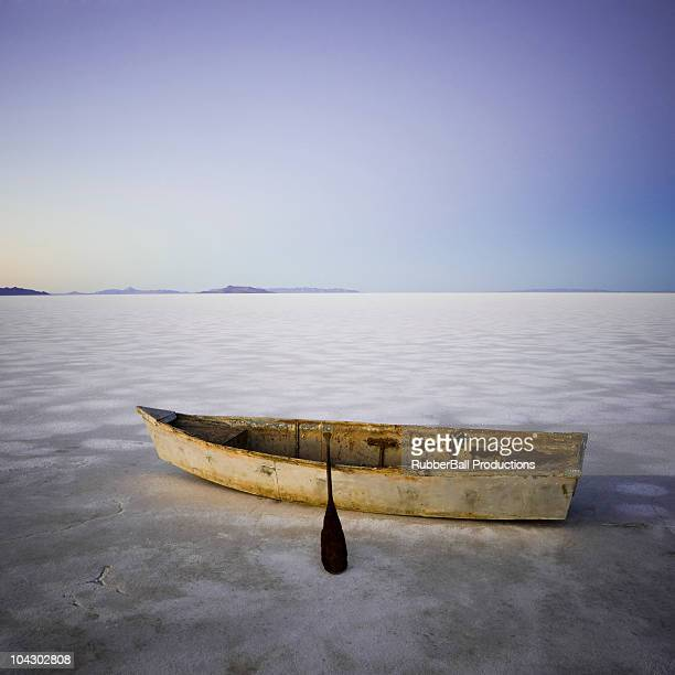 row boat in the middle of nowhere