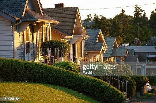 Row Houses at Sunrise