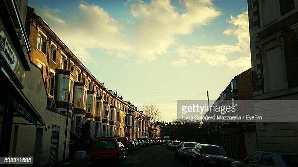 Row Houses At Sunset
