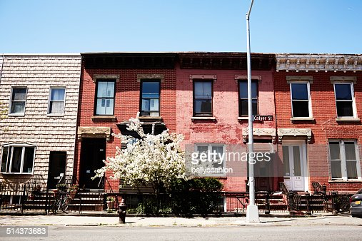 Row Houses In Brooklyn, New York