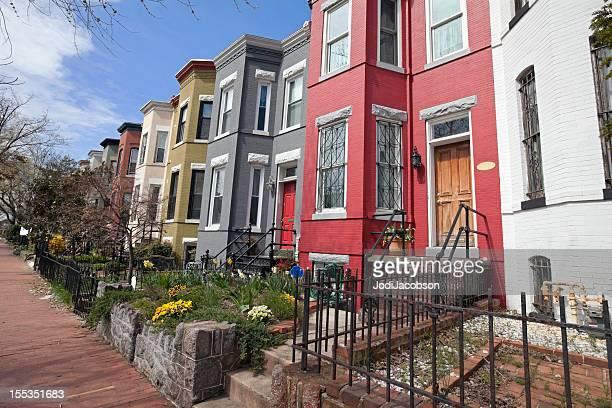 row houses on Capitol Hill washington DC