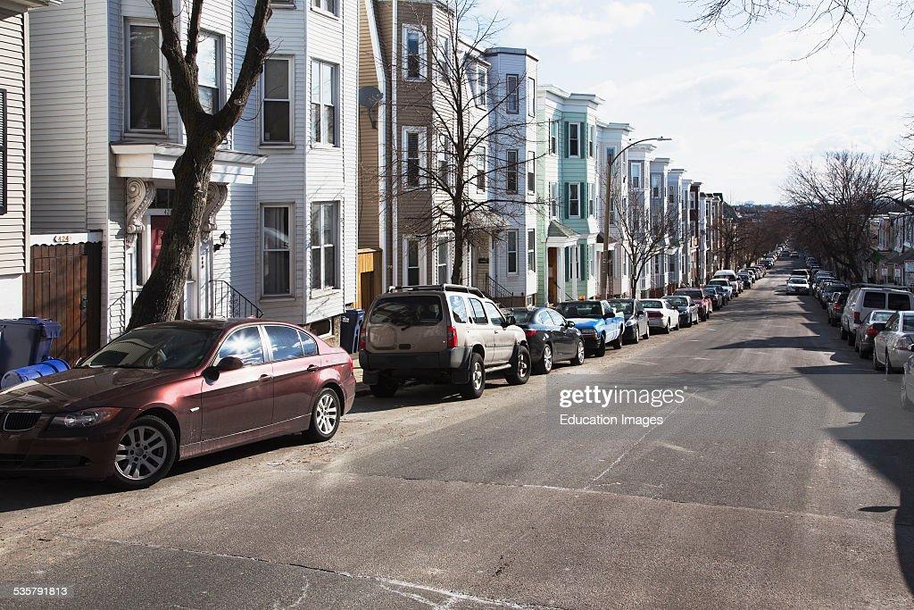 Row houses South Boston Massachusetts