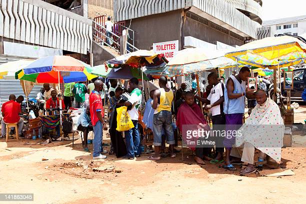 Row of Barbers, Yaounde Cameroon