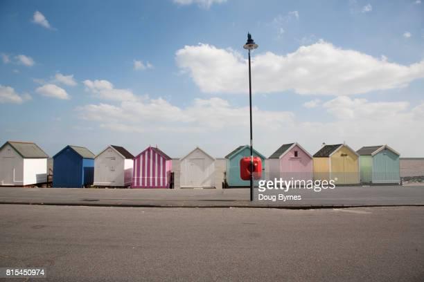 Row of beach boxes