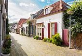 Row of beautiful houses in Doesburg