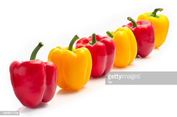 Row of Bell Peppers