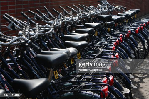 Row of bicycles : Stock Photo