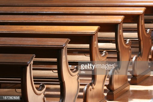 Row of church pews 02 / closer