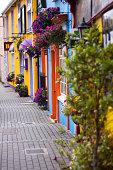 Colorful street in Kinsale, county Cork, Ireland