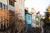 Row of colorful buildings