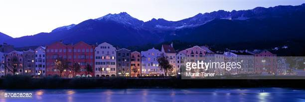 Row of colourful houses in Innsbruck