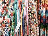 Row of colourful ribbons