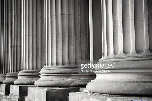 Row of columns : Stock Photo