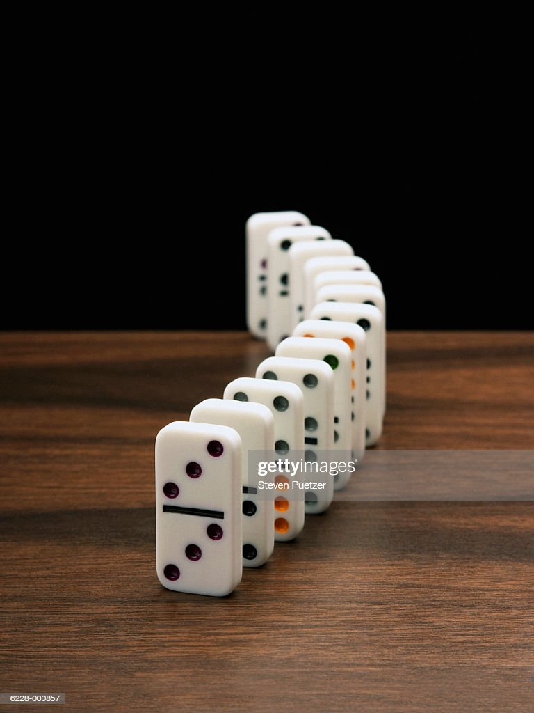 Row of Dominoes : Stock Photo
