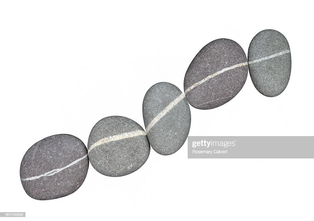 Row of granite pebbles