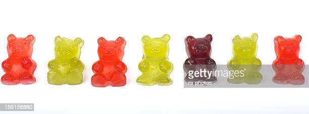 Row of Rubber Band bears